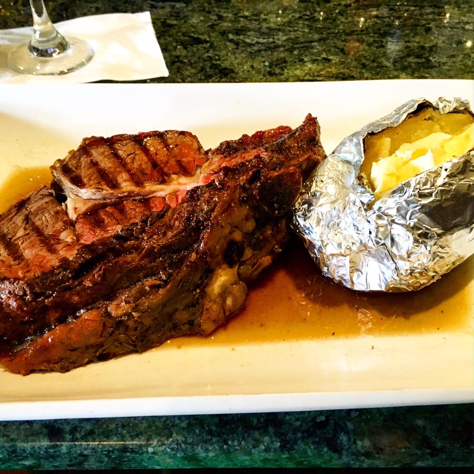 Via Appia, Condado, Rib Eye, Steak, Potato, Steak House, San Juan, Puerto Rico, Parrilla, Grilled, Carnes, Papa, Asada, Condado, Ashford, Avenue, Food, Italian Food, Puerto Rican Food, Restaurant